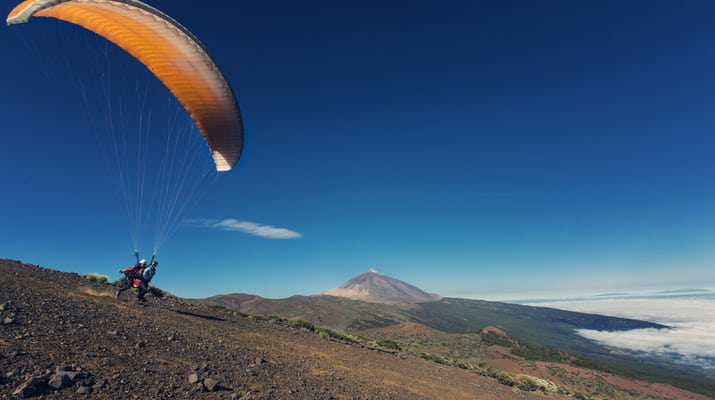 Paragliding in Tenerife, Spain