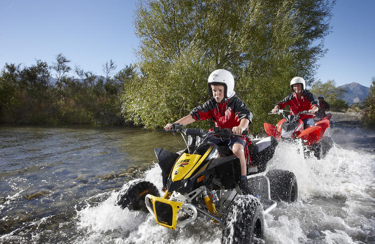 Quad-biking in Hanmer Springs