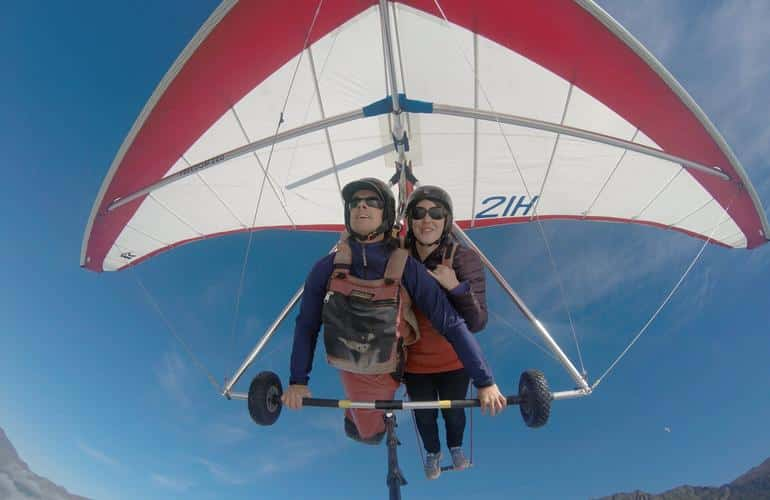 Two people Hang Gliding