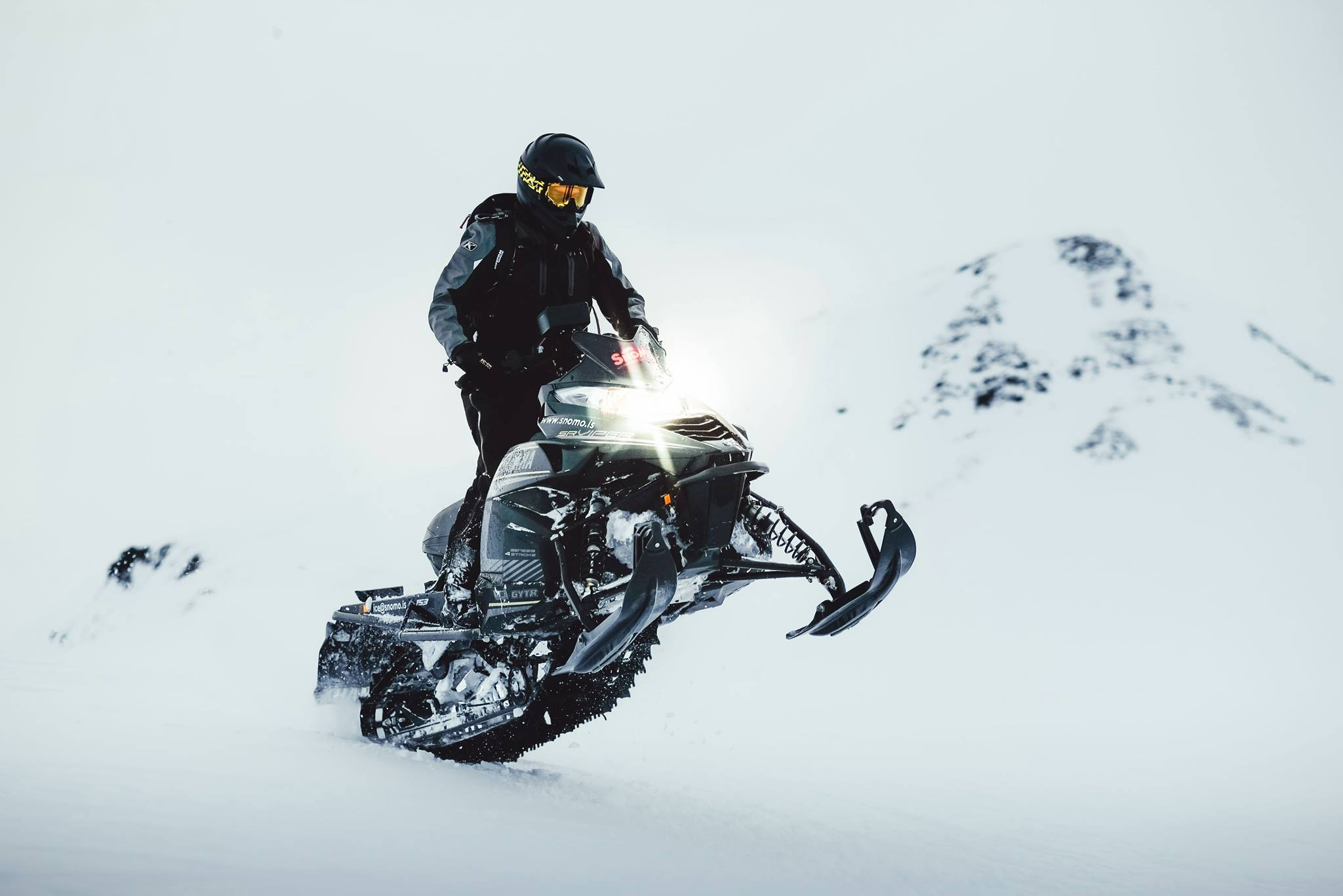 Snowmobile in Iceland on our list of  everything about snowmobiling