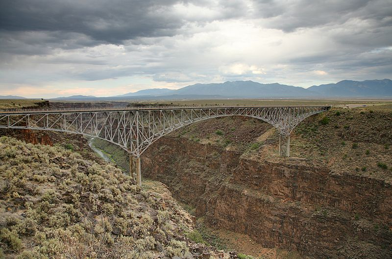 Bungee Jumping from the Rio Grande Bridge in New Mexico USA