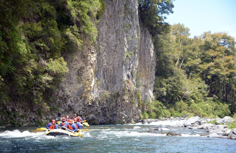 Whitewater river rafting in Tongariro river near Taupo