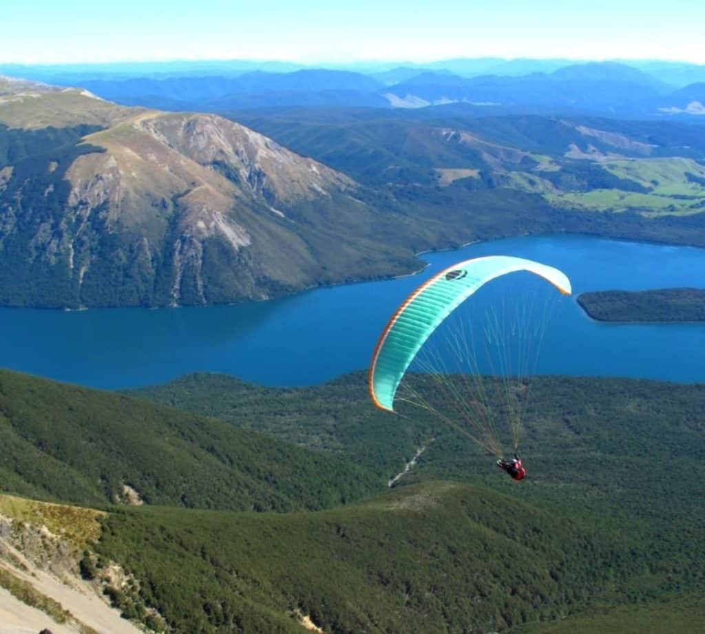 Paragliding in Nelson, New Zealand