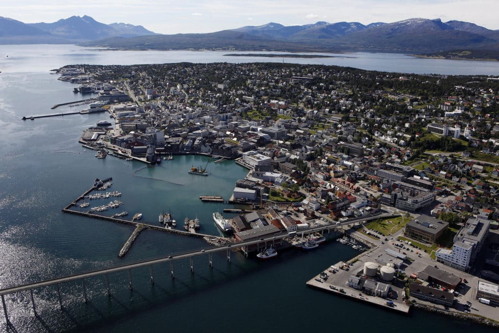 Island city of Tromsø, Norway
