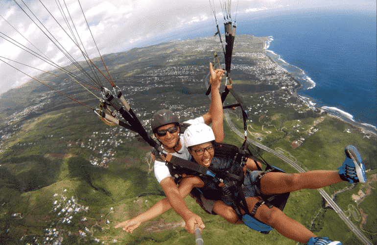 paragliding in reunion island