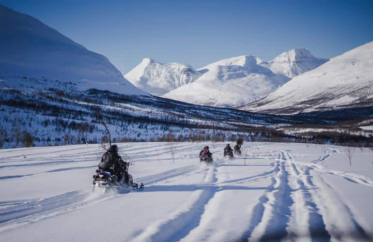 Snowmobiling in Camp Tamok