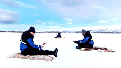 ice fishing in abisko