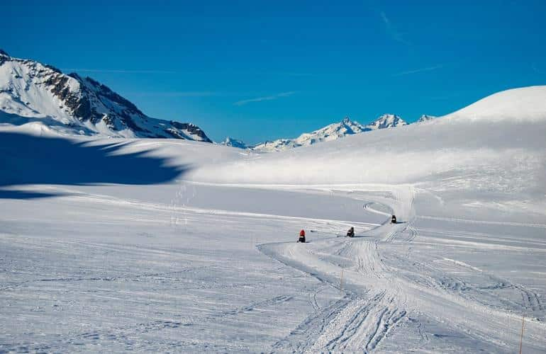 Snowmobiling in Tignes on our list of  everything about snowmobiling