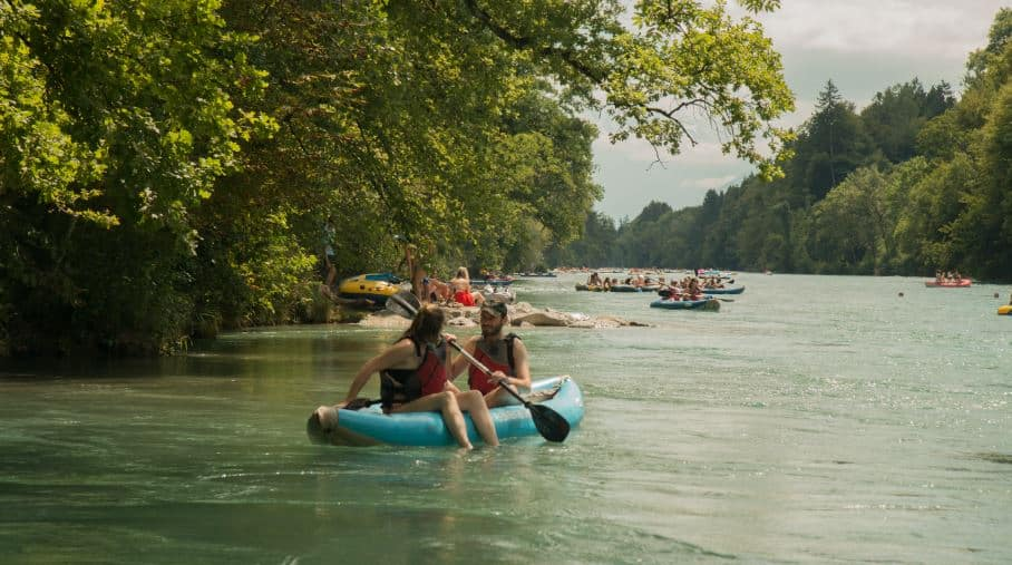 Kayaking on the Aare River