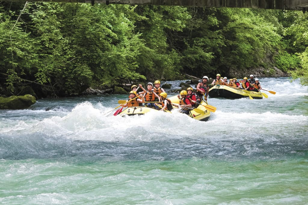 Rafting down the River Simme