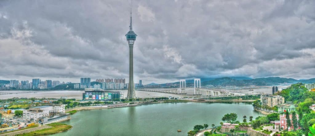 Bungee Jumping on Macao Tower