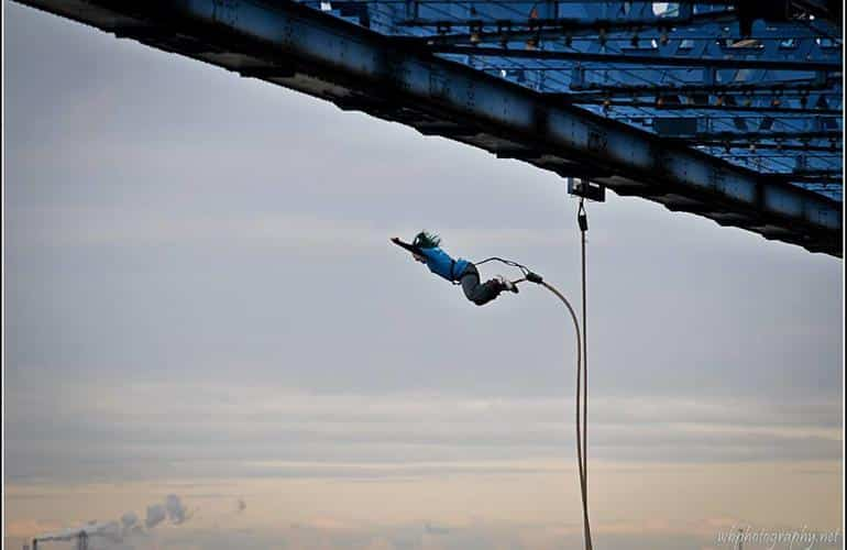 O2 bungee in the heart of London