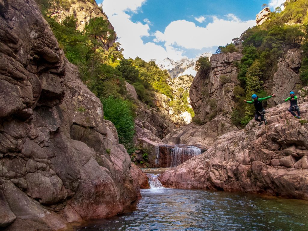 Canyon of La Vacca in Bavella in Corsica